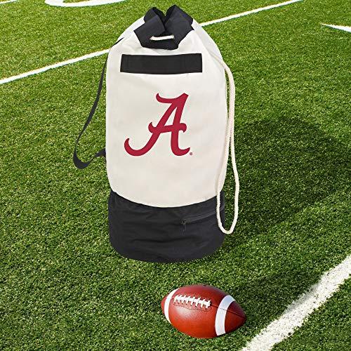 Smart Design Collegiate Robuste Duffel-Tasche mit 2 Fächern, 38,1 x 76,2 cm, Segeltuch, Design der University of Alabama Team - offiziell Lizenziertes Logo - Purpurrot & Weiß - [Alabama Crimson Tide] -