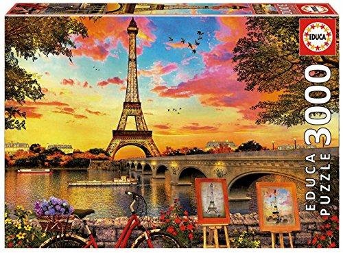 Educa Borrás - Puzzle 3000 Puesta de sol en París (17675)