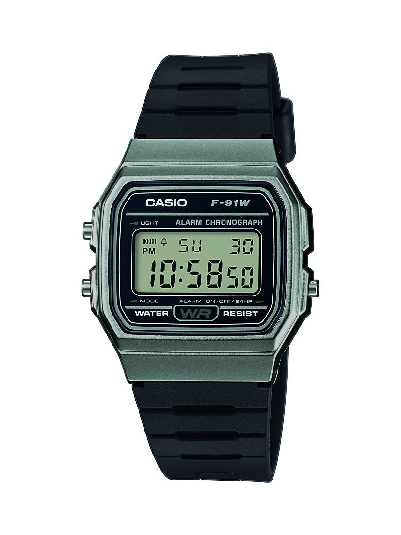 Casio Unisex Watch in Resin/Acrylic Glass with Date Display and LED Light – Water Resistance & Alarm
