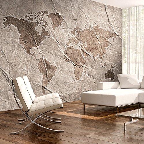 Preisvergleich Produktbild murando - Fototapete 200x140 cm - Vlies Tapete - Moderne Wanddeko - Design Tapete - Wandtapete - Wand Dekoration - Reise Weltkarte Kontinente Textur k-B-0003-a-c