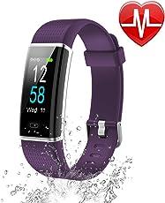 Letsfit Fitness Armband mit Pulsmesser IP68 Wasserdicht Schrittzähler Farbbildschirm Fitness Tracker mit Aktivitätstracker Schlafanalyse Vibrationsalarm