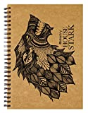#9: Labartry's Artist Sketch Book Wiro Bound A5 - 60 Pages (House Stark, Game of Thrones), Brown Cover