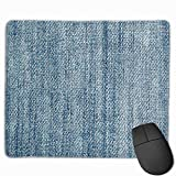 Mouse Pad Jeans Fabric Thread Art Rectangle Rubber Mousepad 11.81 X 9.84 Inch Gaming Mouse Pad with Black Lock Edge