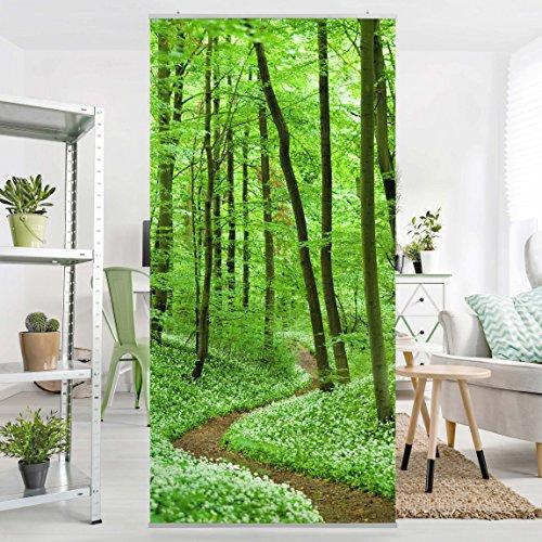 Flächenvorhang Set Romantischer Waldweg Bäume