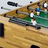 """Tischfussball """"Glasgow"""" Buche inkl. Zubehör Set, 2 Getränkehalter, höhenverstellbare Füße, nahtlos hochgezogene Spielfeldecken, Tischkicker, Kicker, Kickertisch - 7"""