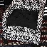 Homescapes Cuscino per poltrona in finto camoscio con imbottitura di sostegno, alzata di 10 cm per una maggior comodità, ideale per gravidanza, post-operatorio o neo-mamme, Nero , 50 x 50 x 10 cm
