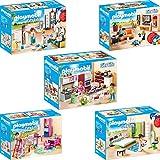 Playmobil City Life Set en 5 parties 9267 9268 9269 9270 9271 Soggiorno con mobile TV...