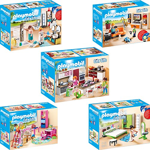 Playmobil City Life Set en 5 parties 9267 9268 9269 9270 9271...