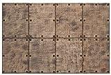 Panelados - Panel decorativo 3D (Mod. Castellano) Decoración pared autoadhesiva. 8 pcs. 30 x 40 cm. Revestimiento pared y techo. DIY montaje fácil. (R
