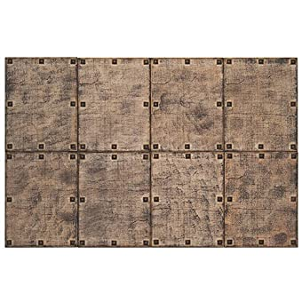 Panelados - Panel decorativo 3D (Mod. Castellano) Decoración pared autoadhesiva. 8 pcs. 30 x 40 cm. Revestimiento pared y techo. DIY montaje fácil. (Rústico)