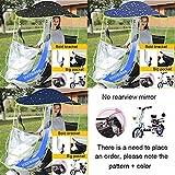 WXIJN Batterie électrique Canopy Moto Pare-Brise Vélo Rain Cover Shade Sun...