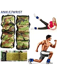 Kemket Bandes de poids ajustables Velcro pour cheville, poignet - Pour entraînement de résistance, force, fitness, course
