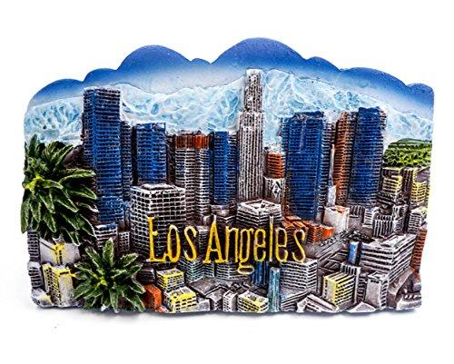 zamonji 3D Harz Kühlschrankmagnet. Welt Tourismus Souvenirs Home Dekoration - Los Angeles/Hollywood (Los Angeles - Stadt der Engel)