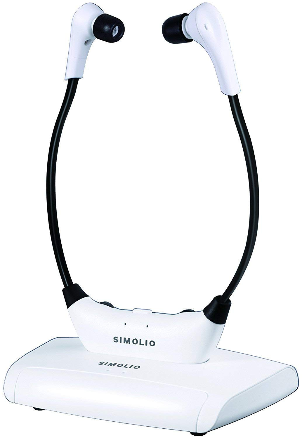 SIMOLIO Wireless TV Headsets, TV Hearing Devices, Hearing Assistance TV Listening Headphones System for Seniors, In Ear Wireless TV Headphone with