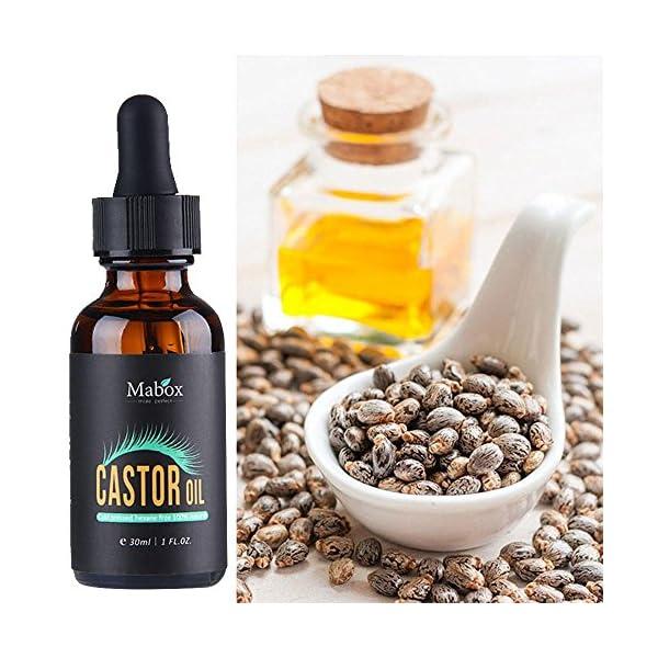 Suero de crecimiento de pestañas – Natural orgánico 100% aceite de ricino, aumenta el crecimiento para pestañas, pelo…
