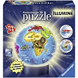 Ravensburger - 12184 - 3D Puzzle - Iluminado Globe - 72 Piezas