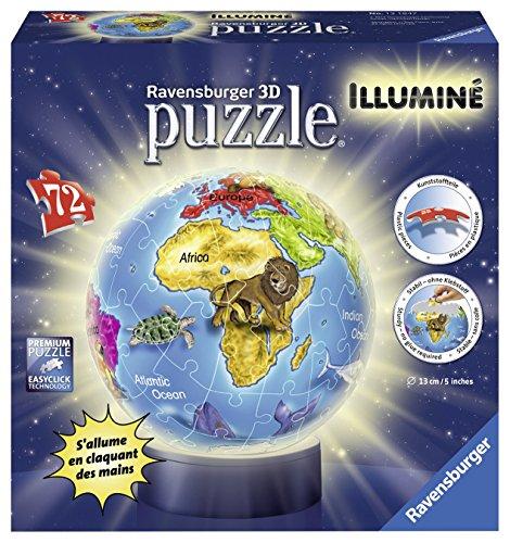 Ravensburger - 12184 - Puzzle 3d - Globe Illuminé - 72 Pièces