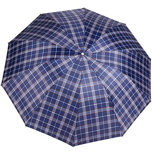 LUCYYA Falten Geschäft Super Groß Männer Damen Winddicht Anti Rost Zehn Knochen Regenschirm