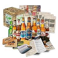 Cette boîte cadeau contient 9 bières du monde, en bouteilles de 33 Cl, ainsi que des informations sur ces bières et des instructions de dégustation. Spécialités de bières du monde entier. Livrées dans un carton spécial en toute sécurité. Ce pack de b...