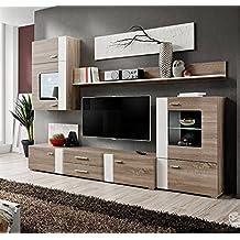 Muebles Bonitos –Mueble de salón Monica color truflowy/blanco