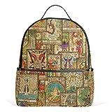 ALAZA Tarot-Karten Vintage-Rucksack für Schule Bookbag
