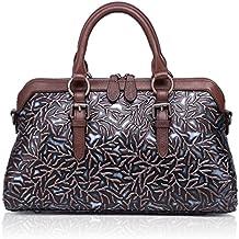 205b127e96fe7 APHISONUK Frauen Echtes Leder Handtasche Große Kapazität Tragetaschen  Geprägte Design Umhängetasche Für Damen Geschenk