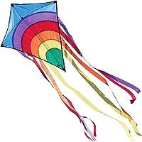CIM Kinder-Drachen - Rainbow Eddy BLUE - Einleiner-Flugdrachen für Kinder ab 3 Jahren - 65x72cm - inkl. 80m…