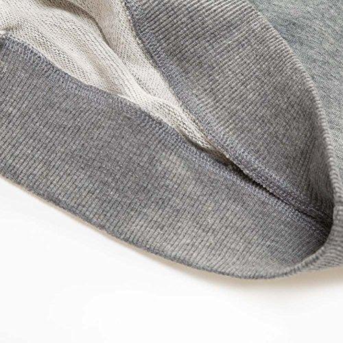 Mena Uk Maglia manica lunga da uomo in cotone - Respirabile e assorbire sudore - Ideale per escursioni a piedi e escursioni Grigio