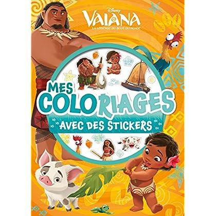 VAIANA - Mes Coloriages avec Stickers - Disney