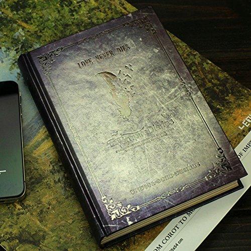 Vampire Diaries Notepad Tagebuch Tagebuch Buch Tagebuch des Zeichenblock Buch Papeler ¨ ªa Vintage Notebook Diary D 120P ¨ ¢ Seiten (grau)