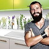 StickerProfis Küchenrückwand Selbstklebend Premium Kräutergläser 60 x 280cm DIY - Do It Yourself PVC Spritzschutz