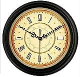 Im europäischen Stil Retro Wanduhr Stille Antike Wohnzimmer hängende Tabelle amerikanische Wanduhr Schlafzimmer runde Uhr , d , 14 inch