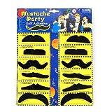 chinkyboo Pack von 12 selbstklebenden Assorted Fake Schnurrbart / Schnurrbart Set Fancy Dress Party Geburtstag stilvoll