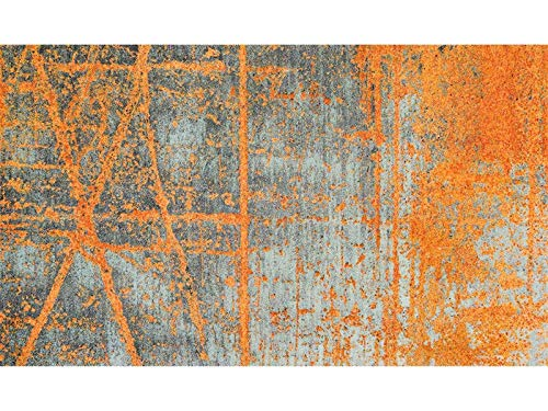 Wash + Dry Rustic Fußmatte, Acryl, orange, 70 x 120 x 0.9 cm