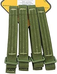 Maxpedition 5 \ TacTie bandoulière OD Green Lot de 4