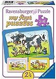 Ravensburger 06571 - My First Puzzles - Gute Tierfreunde, 3 x 6 Teile Rahmenpuzzle
