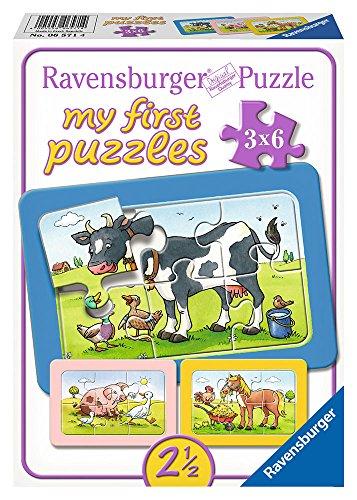 Ravensburger 06571 - My First Puzzle 3x6 Pezzi, Teneri Amici Animali