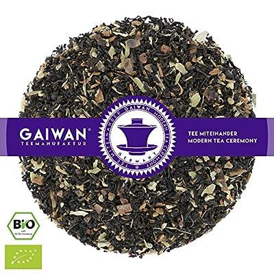 """N° 1318: Thé noir bio """"Black Energy"""" - feuilles de thé issu de l'agriculture biologique - GAIWAN® GERMANY - thé noir de l'Inde, cardamome, cassia, gingembre, poivre noir, giroflier, poudre de guarana"""