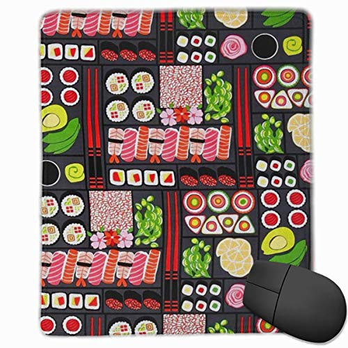 Mouse Pad Little Sushi Dinner Gaming Mouse Pad Mat Custom Design Non-Slip 25 x 30 x 0.3 cm -