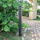 Fonderia Bongiovanni Brunnen A Säule aus Stahl mit Wasserhahn für Außen Haus Garten Typ Olimpia gussgrau