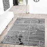 Alfombra, moderno diseño de suelo marmolado, color gris, gris, 60 x 100 cm
