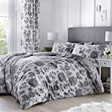 Dreams & Drapes - Marinelli - Easy Care Duvet Cover Set - Super-King, Grey