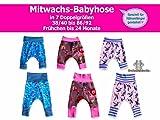 Mitwachs-Babyhose Nähanleitung mit Schnittmuster in 7 Größen 38/40-86/92 [Download]