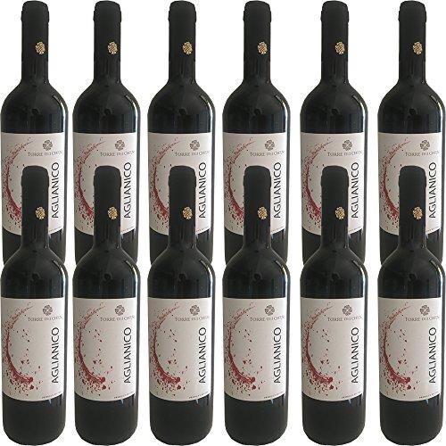 Aglianico del Beneventano IGP | Torre dei Chiusi | Confezione da 12 Bottiglie da 75 Cl | Vino Rosso Italiano | Campania
