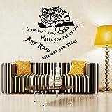 suchergebnis auf f r grinsekatze wandtattoos wandbilder malerbedarf werkzeuge. Black Bedroom Furniture Sets. Home Design Ideas