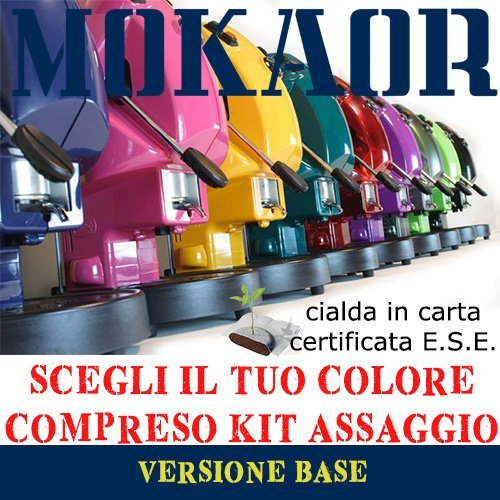 NUOVA MACCHINA A CIALDE DIDIESSE FROG REVOLUTION 2017 + 15 CIALDE MOKAOR ESPRESSO ITALIANO DAL 1954 - COLORE RANDOM
