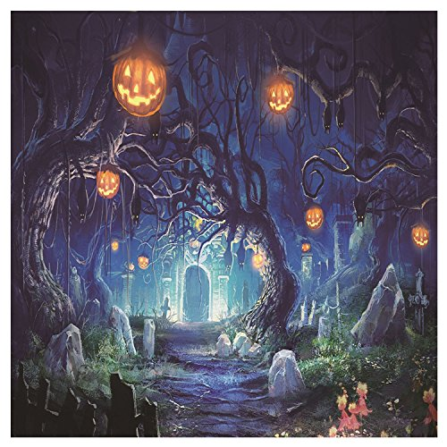 Vococal 5 x 7ft Vinyl Halloween Fotografie Hintergrund Studio Foto Backdrop Requisiten Halloween Dekoration Lieferungen Horror Forest Style
