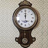 y-hui Vibrator der alten Wohnzimmer Wanduhr Uhr Stille neuen Transit Dunstabzugshaube Bronze-Quarz-Uhr, 16Zoll, der Fahrt von reines Kupfer Uhr Schweigen Massivholz
