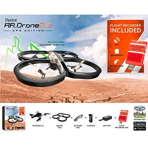 Parrot AR Drone 2.0 GPS Edition Quadrocopter (geeignet für Android/Apple Smartphones/Tablets) sand - 14