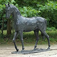 Lebensgroßes Bronze-Pferd Warmblut